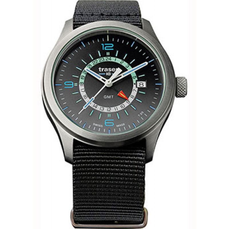 Швейцарские наручные  мужские часы Traser TR.107233. Коллекция Aurora GMT
