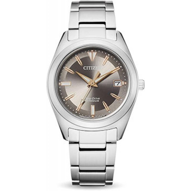 Японские наручные  женские часы Citizen FE6150-85H. Коллекция Super Titanium