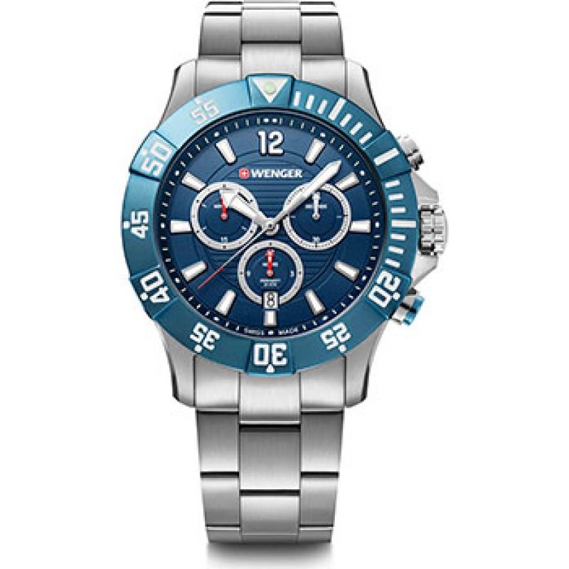 Швейцарские наручные  мужские часы Wenger 01.0643.119. Коллекция Seaforce Chrono