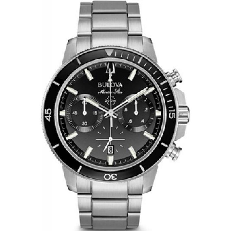 Японские наручные  мужские часы Bulova 96B272. Коллекция Marine Star