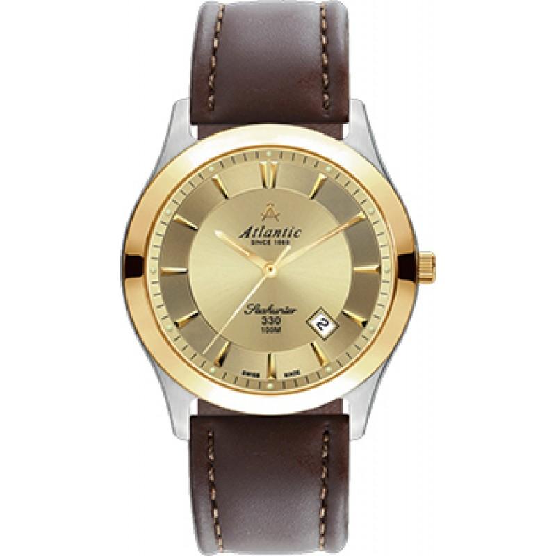 Швейцарские наручные  мужские часы Atlantic 71360.43.31G. Коллекция Seahunter 100