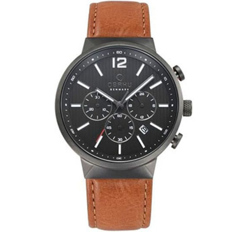 fashion наручные  мужские часы Obaku V180GCUURZ. Коллекция Leather