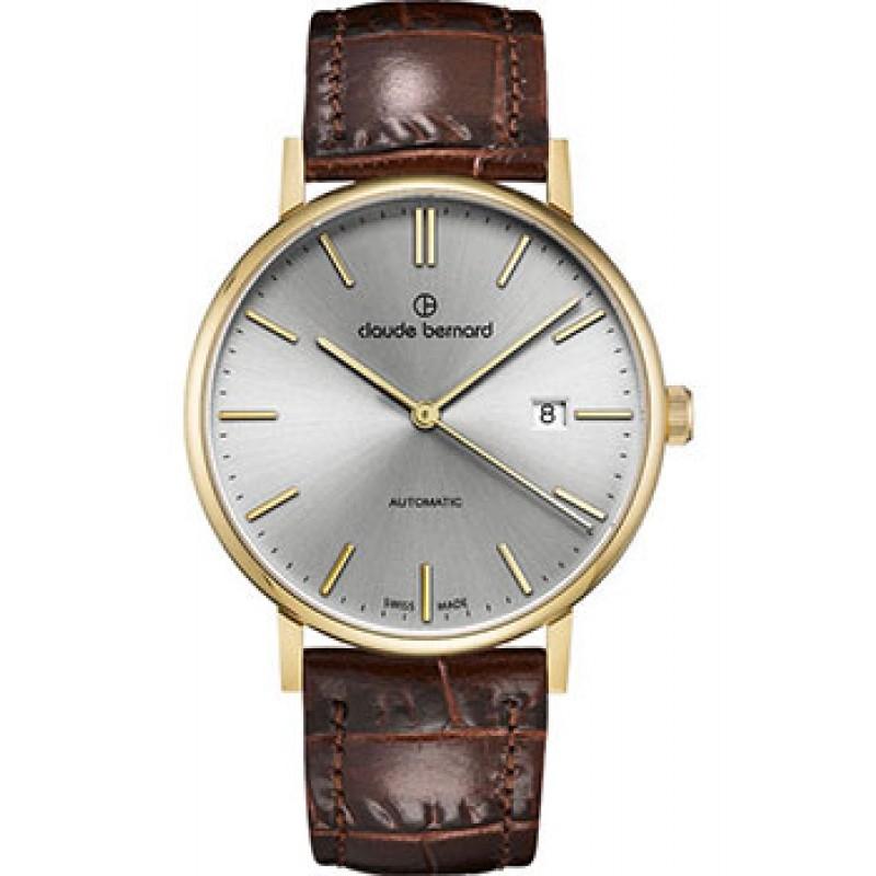 Швейцарские наручные  мужские часы Claude Bernard 80102-37JAID. Коллекция Classic Automatic