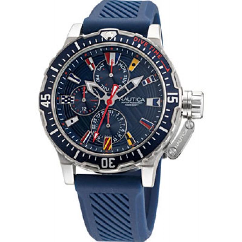 Швейцарские наручные  мужские часы Nautica NAPGLF008. Коллекция Glenrock Lagoon