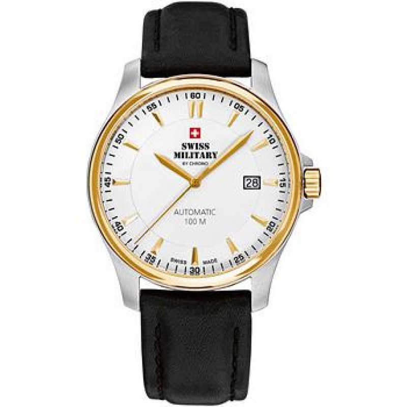 Швейцарские наручные  мужские часы Swiss military SMA34025.07. Коллекция Automatic Collection