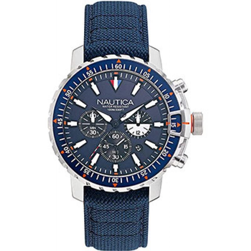 Швейцарские наручные  мужские часы Nautica NAPICS006. Коллекция Icebreaker Cup Chrono