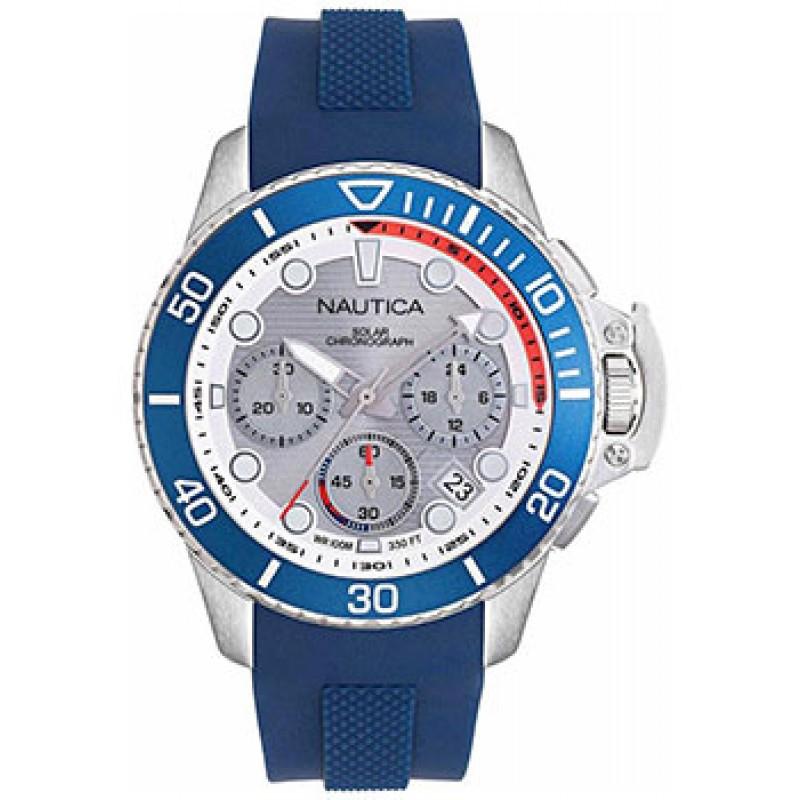 Швейцарские наручные  мужские часы Nautica NAPBSC905. Коллекция Bayside Chrono Solar