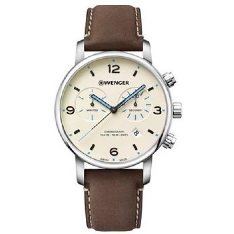 Швейцарские наручные  мужские часы Wenger 01.1743.111. Коллекция Urban Metropolitan Chrono
