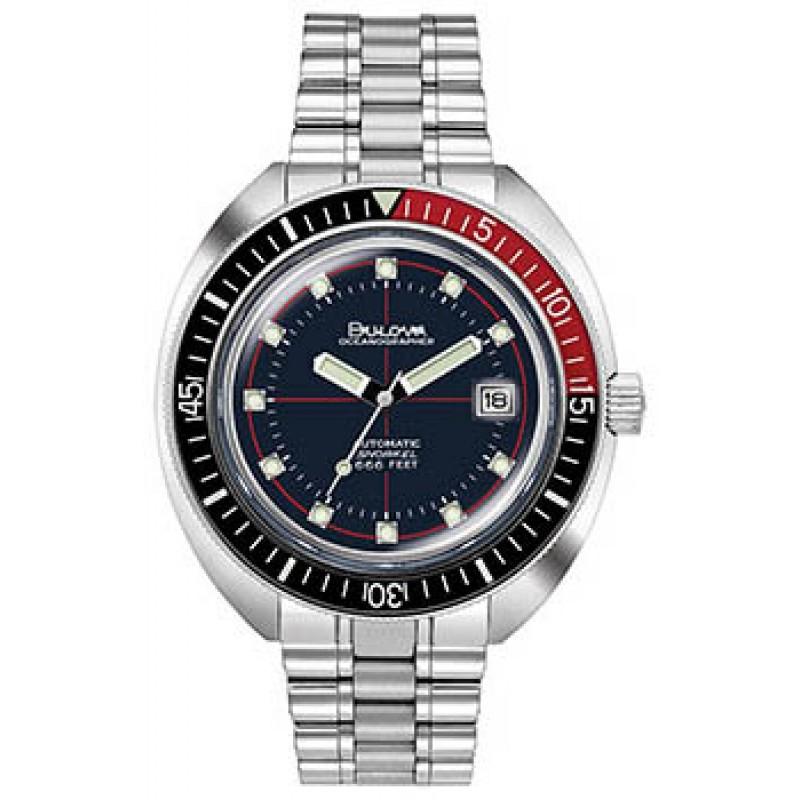 Японские наручные  мужские часы Bulova 98B320. Коллекция Oceanographer