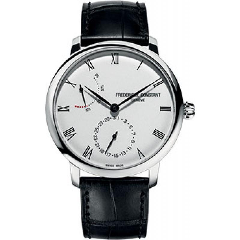 Швейцарские наручные  мужские часы Frederique Constant FC-723WR3S6. Коллекция Slimline Power Reserve