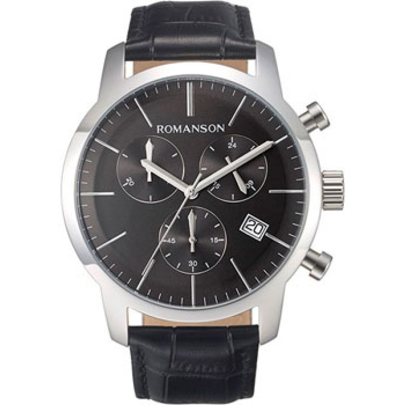 мужские часы Romanson TL8A19HMW(BK). Коллекция Adel
