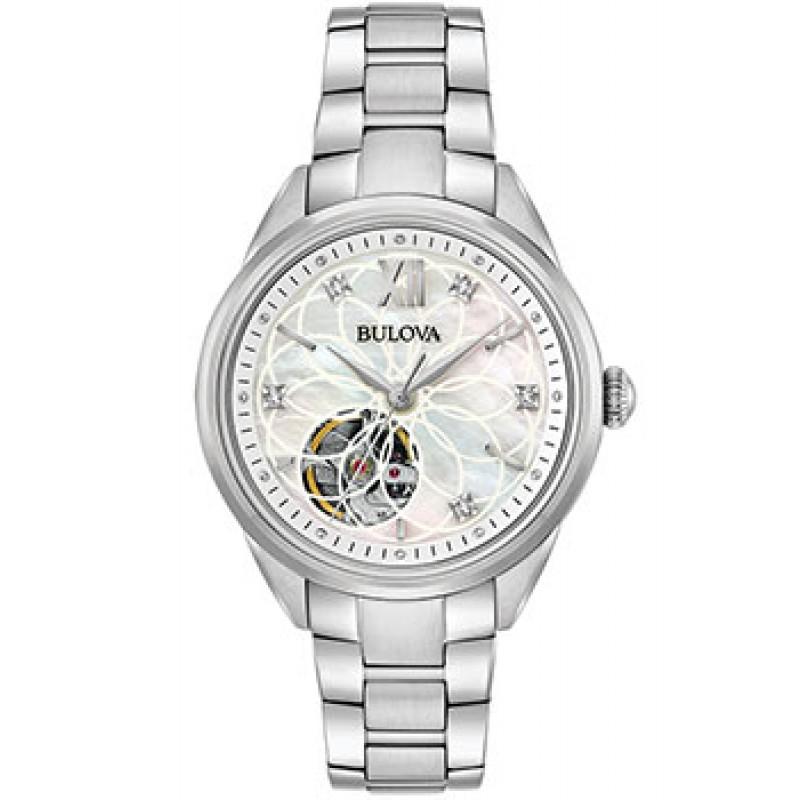 Японские наручные  женские часы Bulova 96P181. Коллекция Automatic