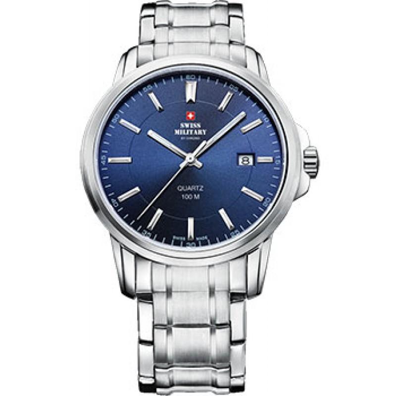 Швейцарские наручные  мужские часы Swiss military SM34039.03. Коллекция Сlassic