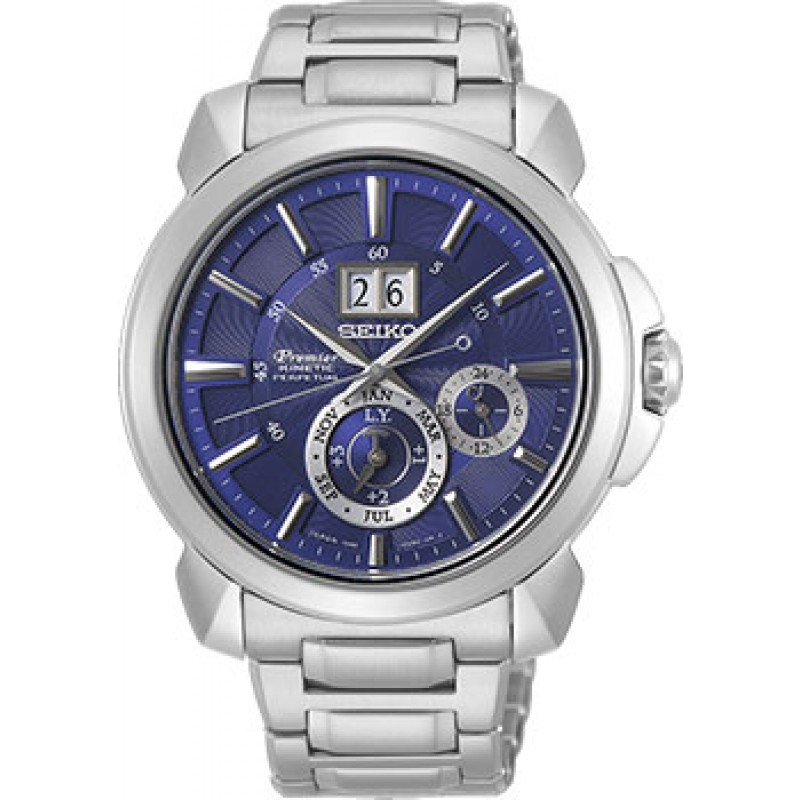 Японские наручные  мужские часы Seiko SNP161P1. Коллекция Premier