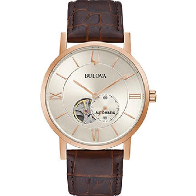Японские наручные  мужские часы Bulova 97A150. Коллекция Automatic