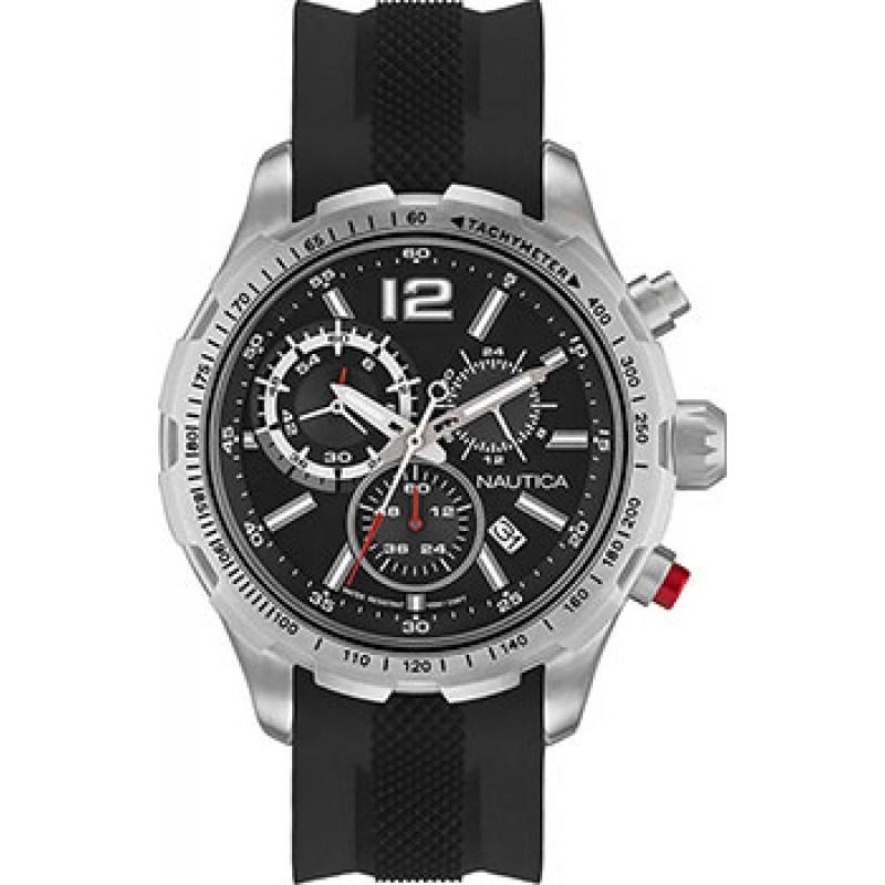 Швейцарские наручные  мужские часы Nautica NAP30LE02. Коллекция NST 30