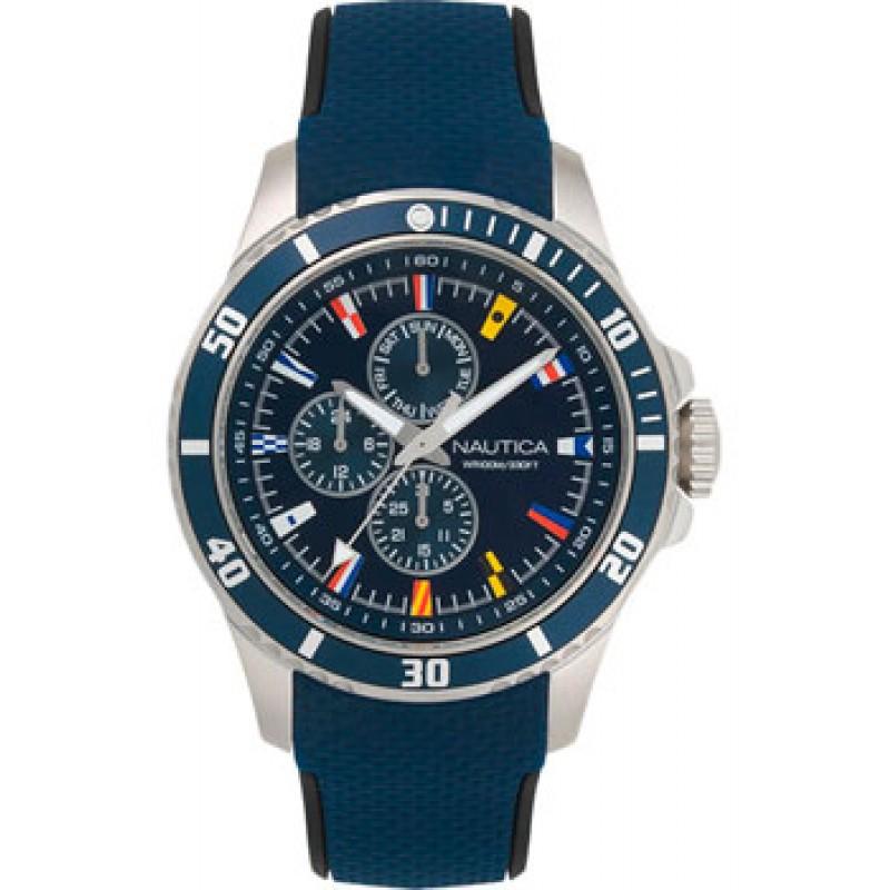 Швейцарские наручные  мужские часы Nautica NAPFRB016. Коллекция Freeboard