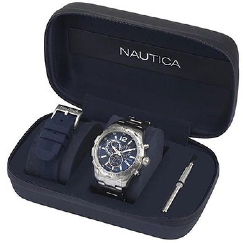 Швейцарские наручные  мужские часы Nautica NAPN30001. Коллекция NST 30
