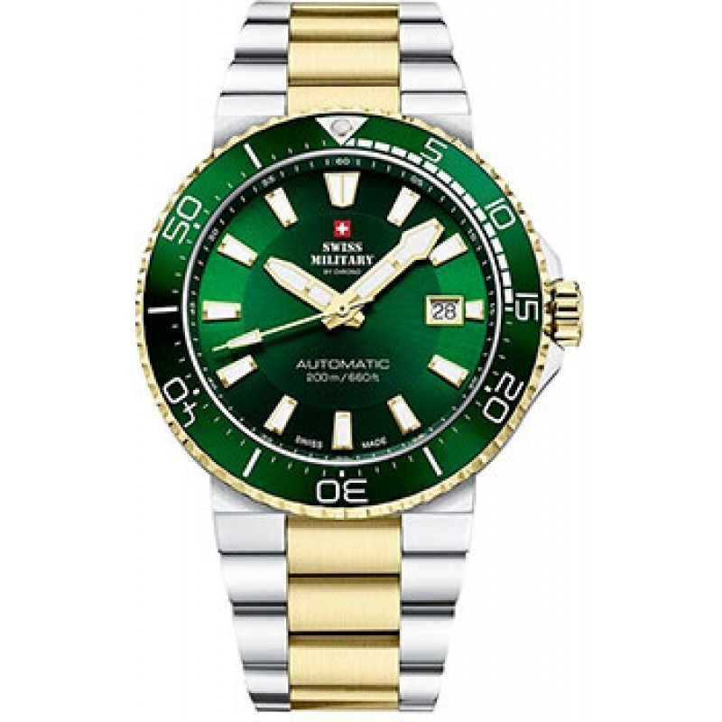 Швейцарские наручные  мужские часы Swiss military SMA34086.04. Коллекция Automatic Dive