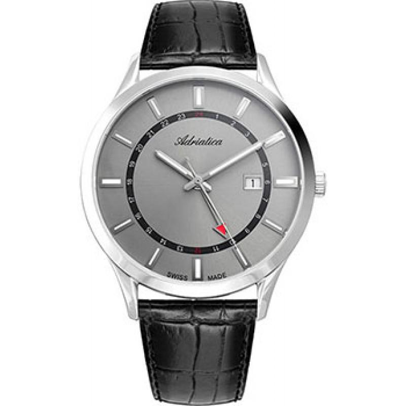Швейцарские наручные  мужские часы Adriatica 8289.5217Q. Коллекция Multifunction