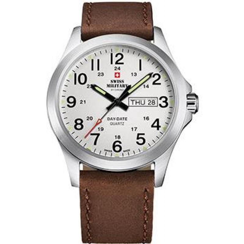 Швейцарские наручные  мужские часы Swiss military SMP36040.16. Коллекция Day Date