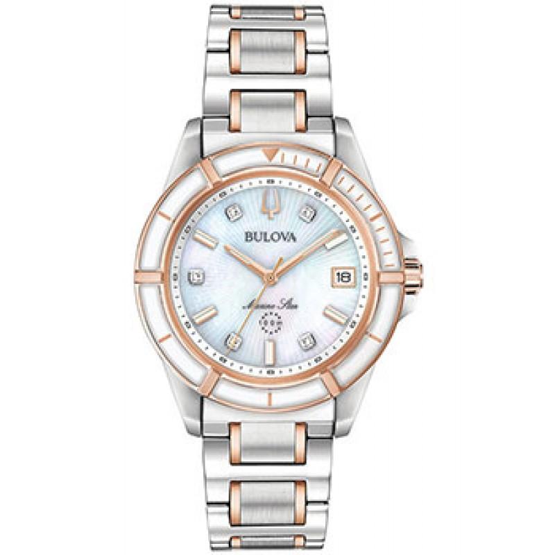 Японские наручные  женские часы Bulova 98P187. Коллекция Marine Star Ladies