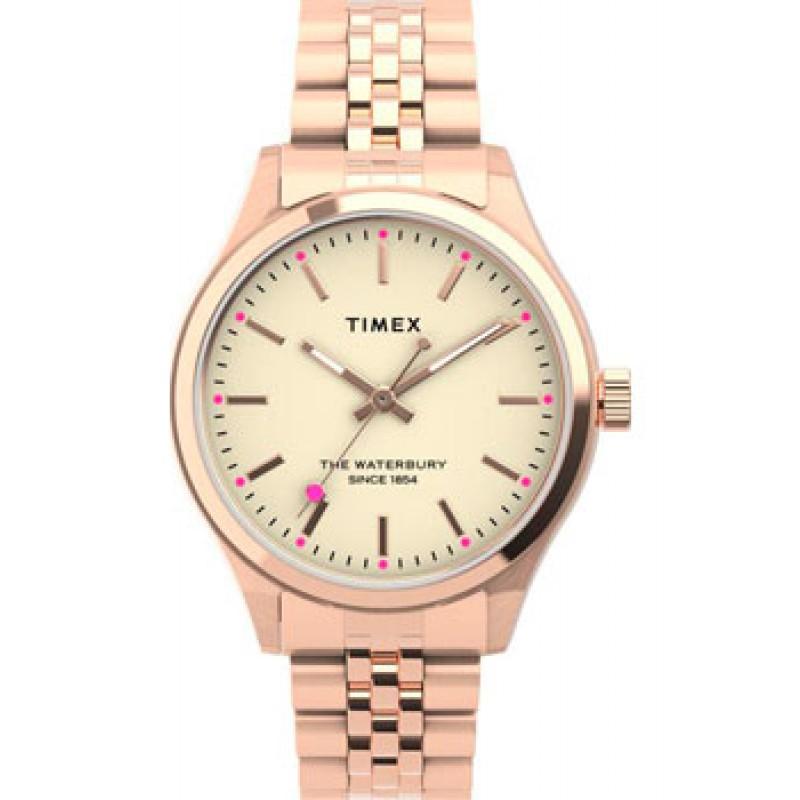 женские часы Timex TW2U23300YL. Коллекция Waterbury Neon