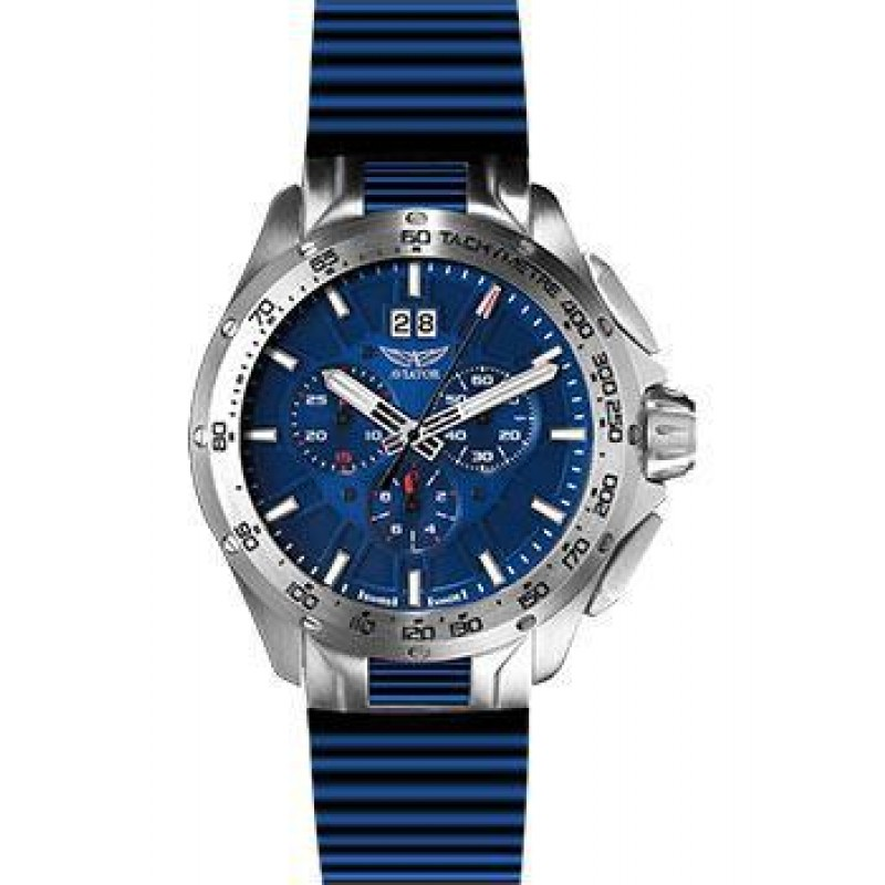 Швейцарские наручные  мужские часы Aviator M.2.19.0.143.6. Коллекция Mig-35