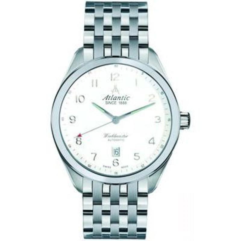 Швейцарские наручные  мужские часы Atlantic 53756.41.23. Коллекция Worldmaster