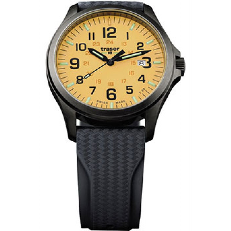 Швейцарские наручные  мужские часы Traser TR.107432. Коллекция Officer Pro