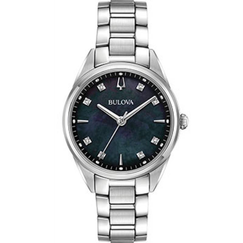 Японские наручные  женские часы Bulova 96P198. Коллекция Diamonds