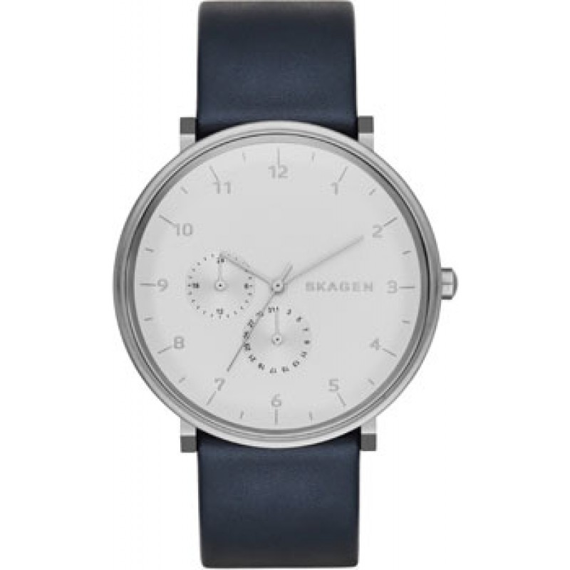 Швейцарские наручные  мужские часы Skagen SKW6169. Коллекция Leather