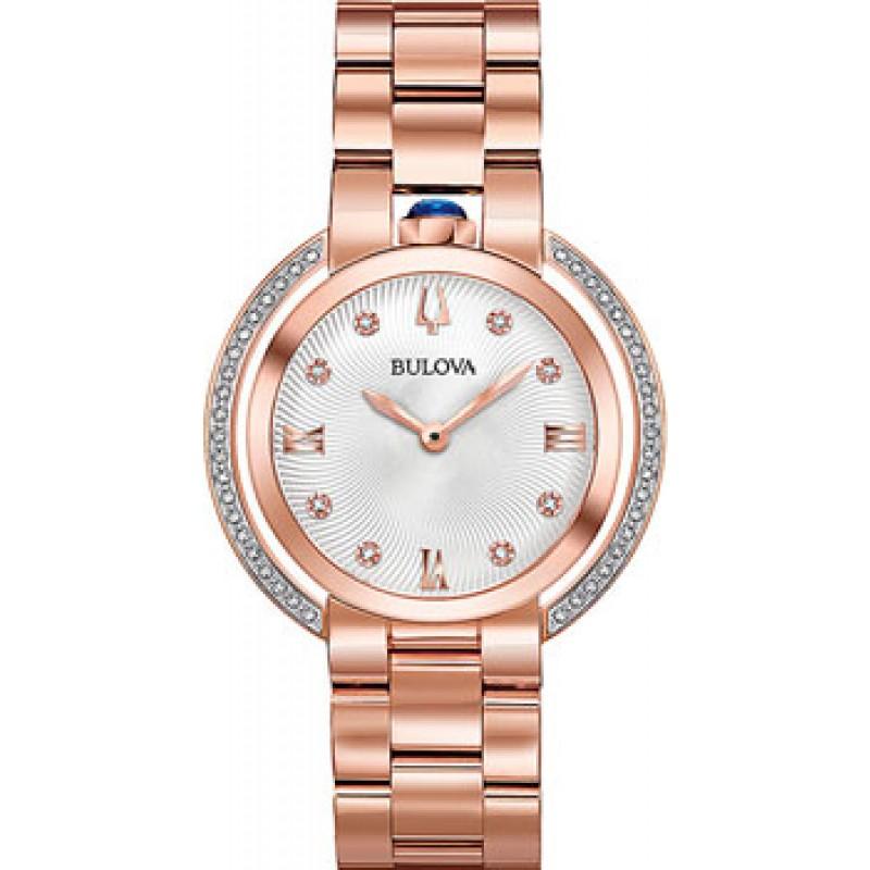 Японские наручные  женские часы Bulova 98R248. Коллекция Rubaiyat