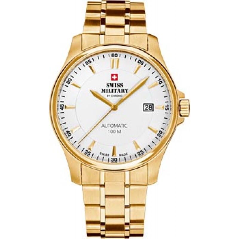 Швейцарские наручные  мужские часы Swiss military SMA34025.04. Коллекция Automatic Collection
