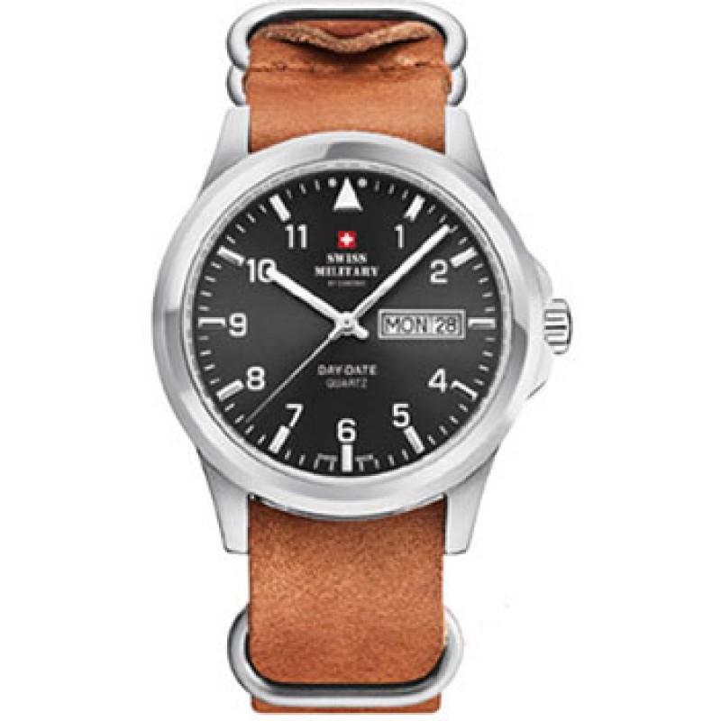 Швейцарские наручные  мужские часы Swiss military SM34071.06. Коллекция Day Date