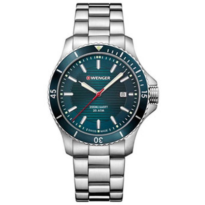 Швейцарские наручные  мужские часы Wenger 01.0641.129. Коллекция Seaforce