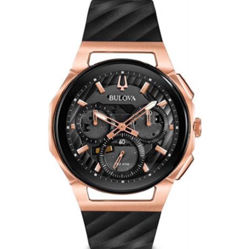 Японские наручные  мужские часы Bulova 98A185. Коллекция CURV
