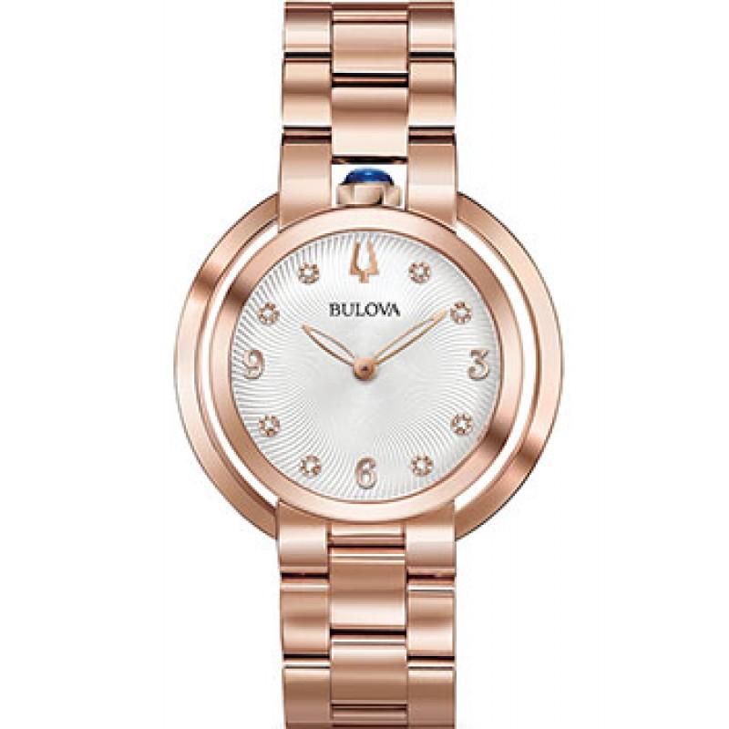 Японские наручные  женские часы Bulova 97P130. Коллекция Rubaiyat