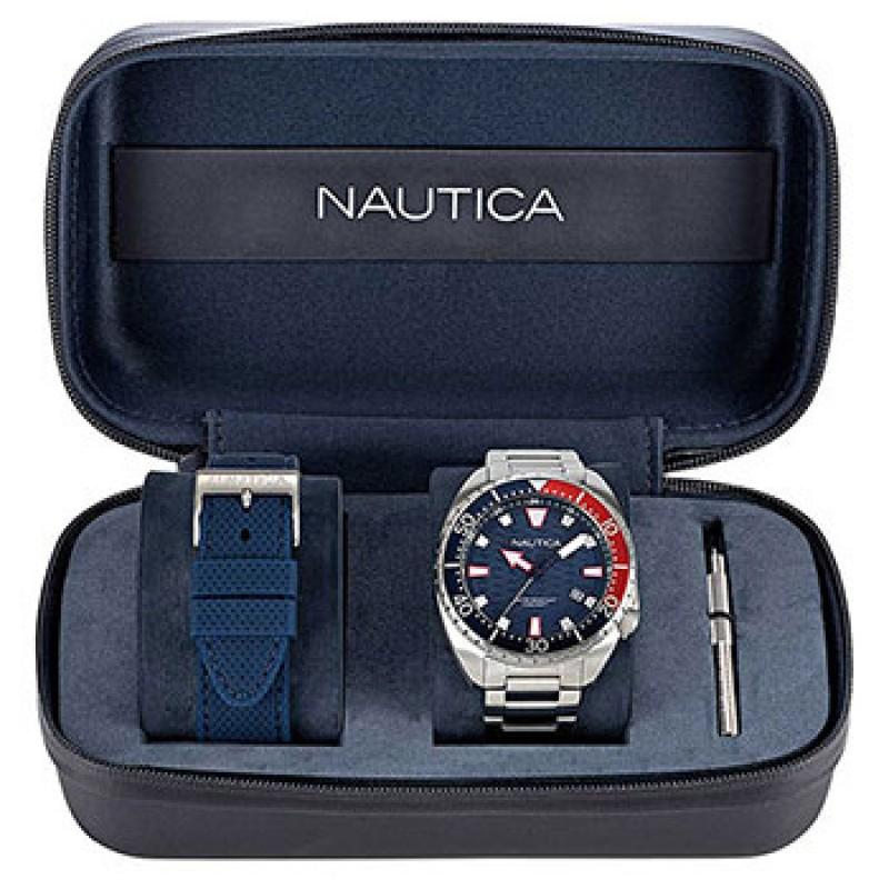 Швейцарские наручные  мужские часы Nautica NAPHAS904. Коллекция Hammock Box Set