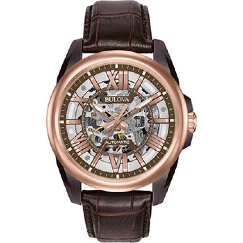 Японские наручные  мужские часы Bulova 98A165. Коллекция Sutton