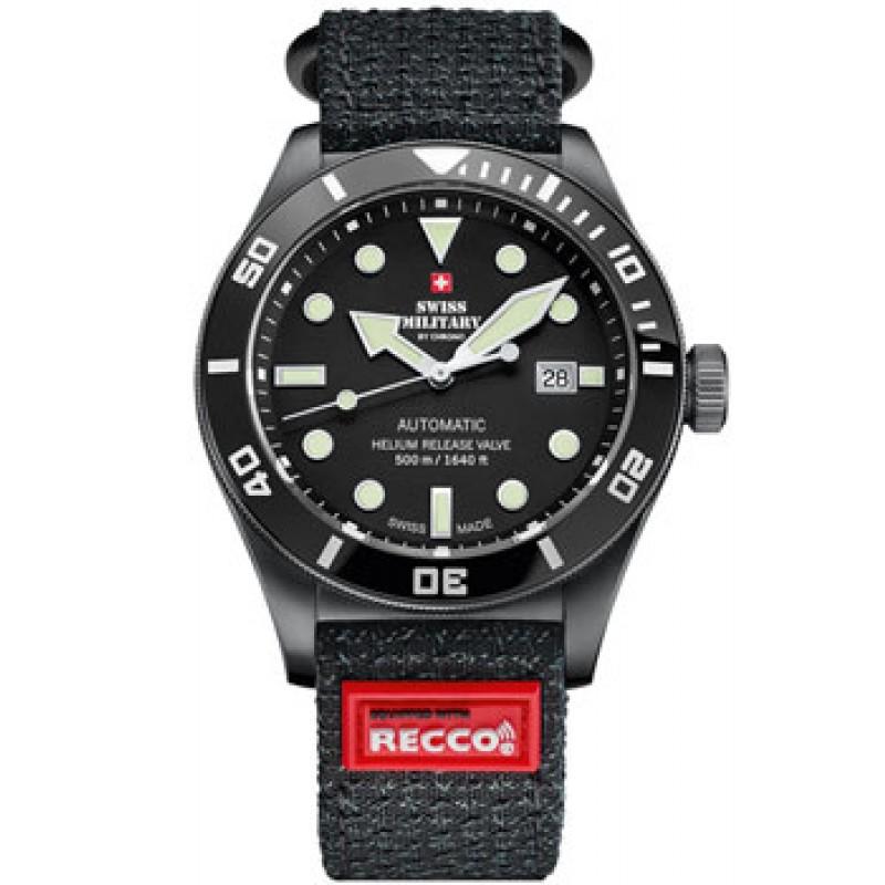 Швейцарские наручные  мужские часы Swiss military SMA34075.05.R. Коллекция Diver Limited Edition