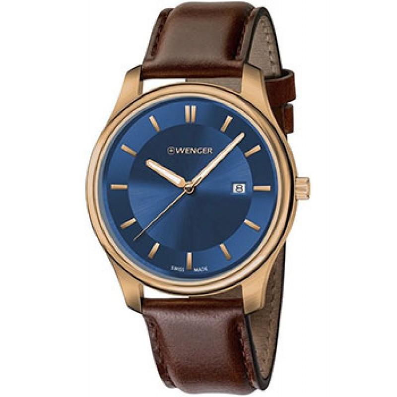 Швейцарские наручные  мужские часы Wenger 01.1441.119. Коллекция City Classic