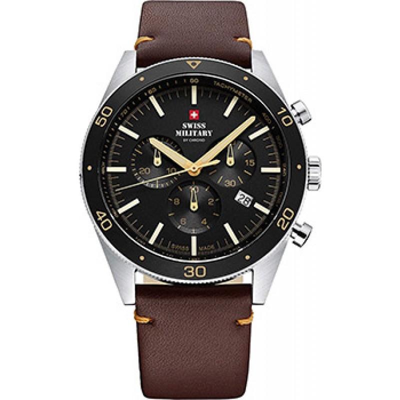 Швейцарские наручные  мужские часы Swiss military SM34079.06. Коллекция Кварцевые хронографы