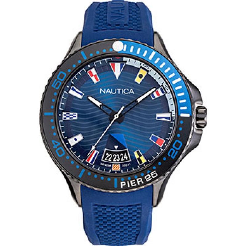 Швейцарские наручные  мужские часы Nautica NAPP25F08. Коллекция Pier 25