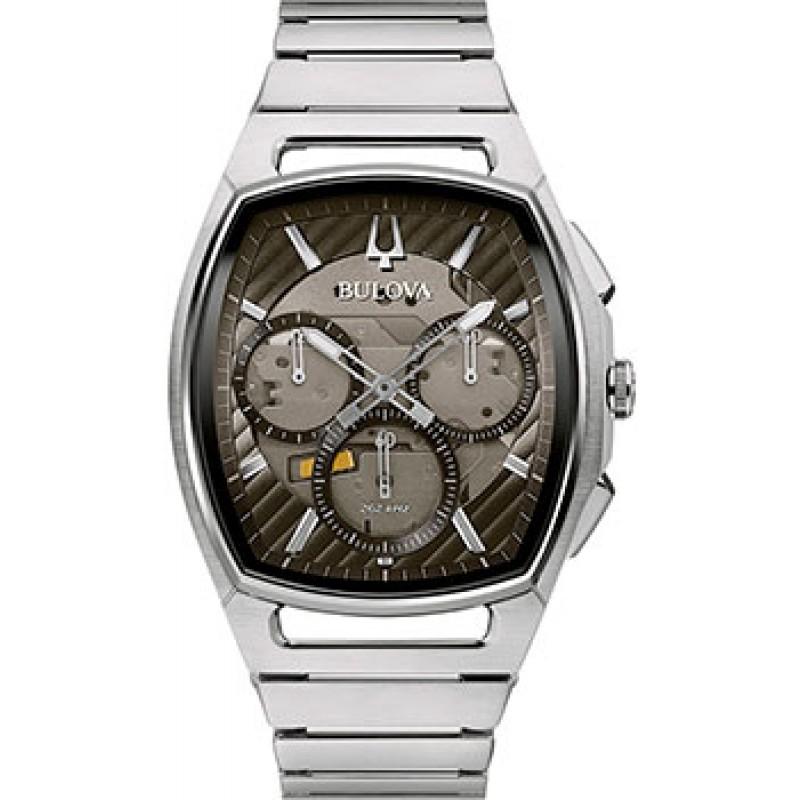 Японские наручные  мужские часы Bulova 96A257. Коллекция CURV
