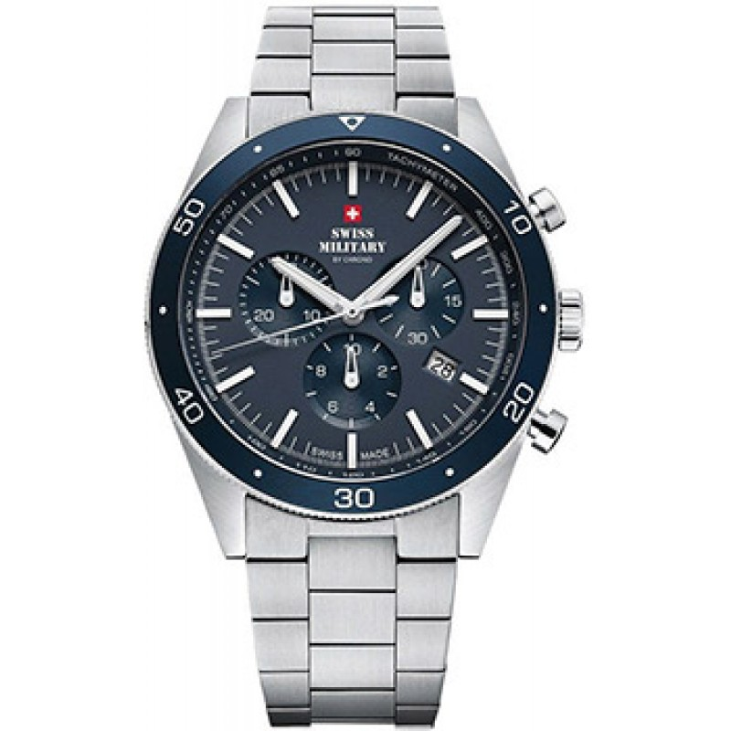 Швейцарские наручные  мужские часы Swiss military SM34079.02. Коллекция Elegant Sports