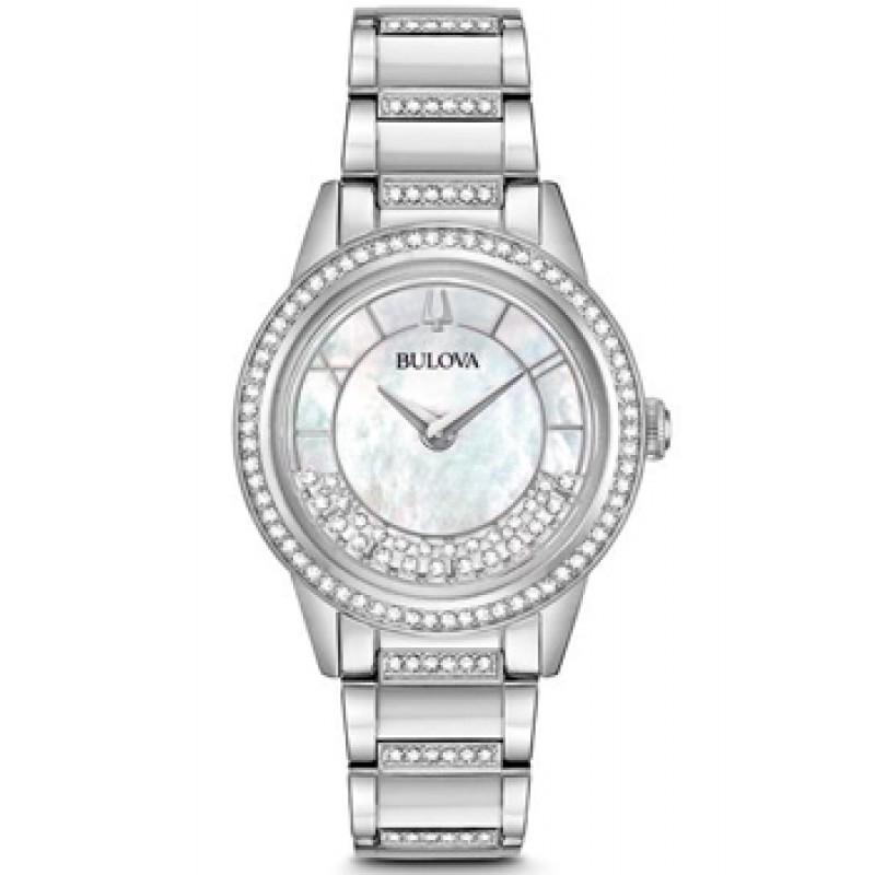 Японские наручные  женские часы Bulova 96L257. Коллекция Crystal Ladies