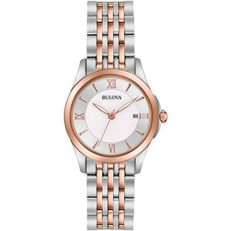 Японские наручные  женские часы Bulova 98M125. Коллекция Classic