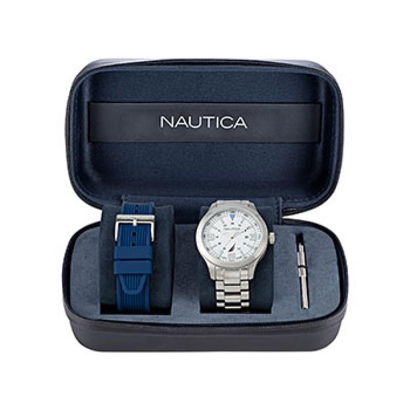 Швейцарские наручные  мужские часы Nautica NAPPLS020. Коллекция Point Loma