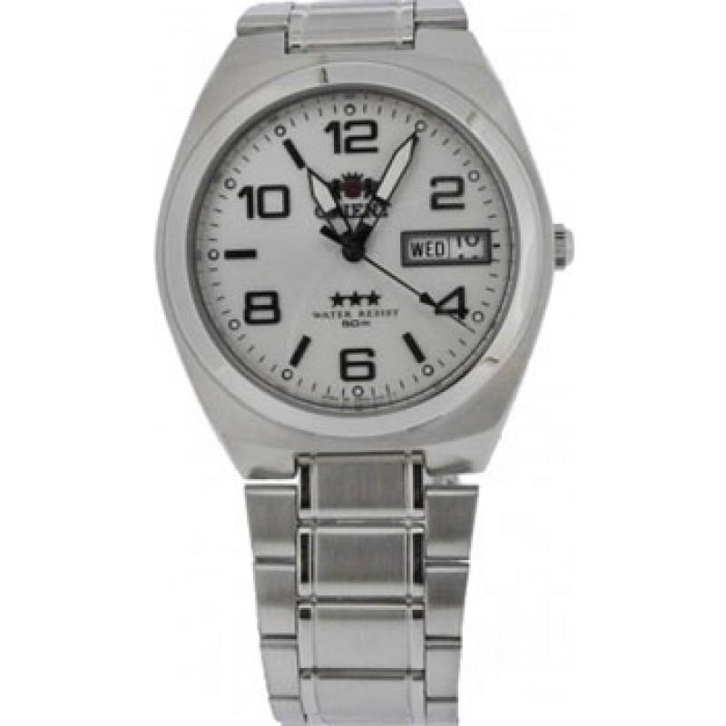 Японские наручные  мужские часы Orient AB08003W. Коллекция Three Star